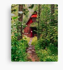 Little Church in the Woods Canvas Print