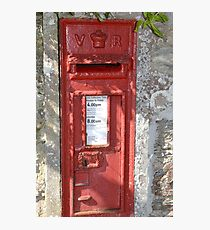 Old V R Postbox  Cornwall Photographic Print