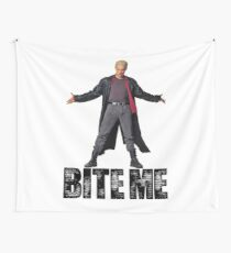 Spike from Buffy - Bite Me Wall Tapestry