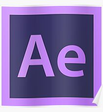 Adobe After Effects Pillows / Acrylic Block Logo Poster