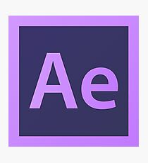 Adobe After Effects Pillows / Acrylic Block Logo Photographic Print
