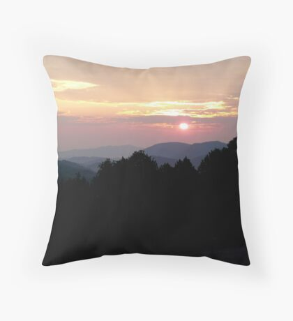 Smoky Mountain Sunrise Throw Pillow