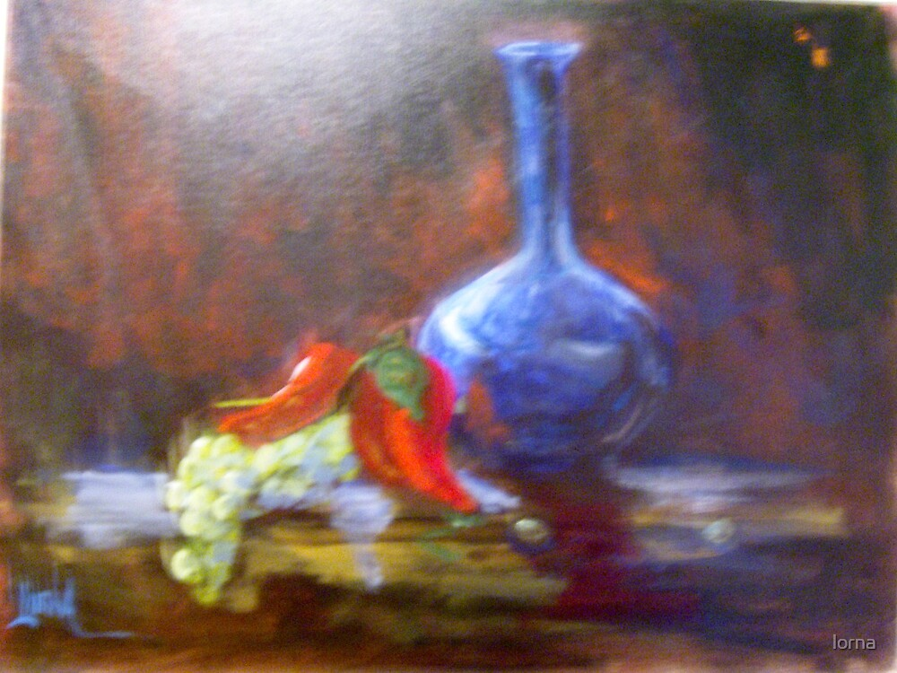Blue Vase by lorna