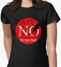 Say No to the TEST Womens Fitted T-Shirt