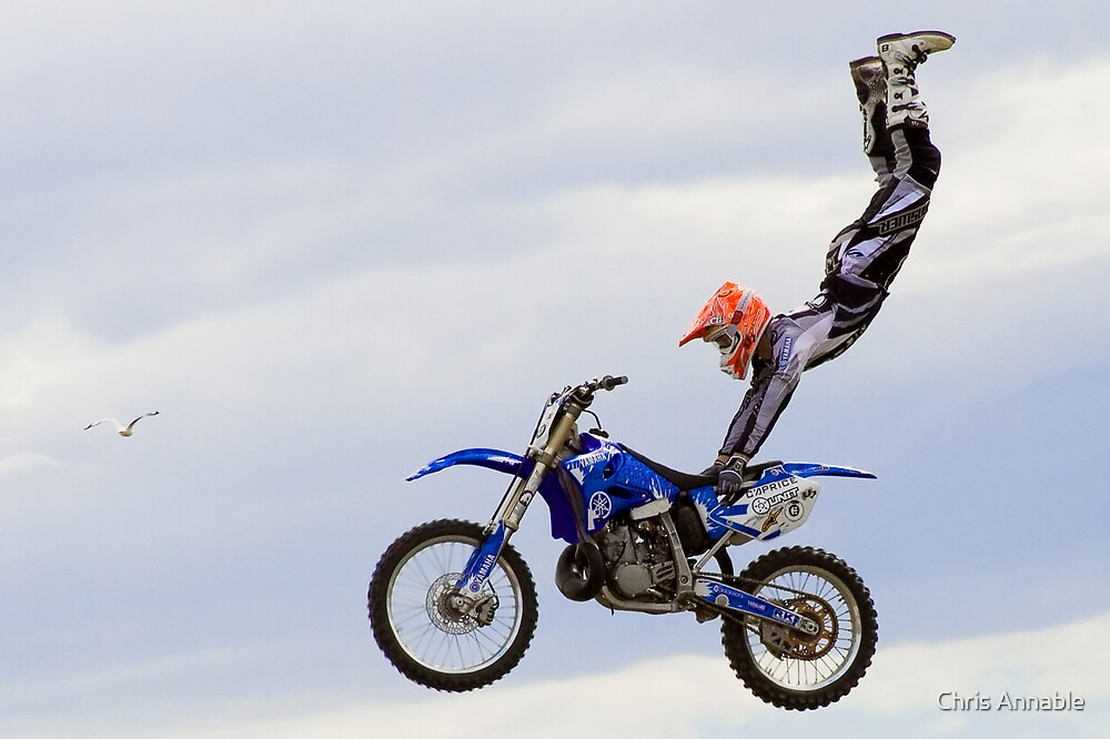 Biker in the sky by Chris Annable