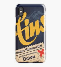 "CDU ""Eins"" - Old German Election Poster Christian Democrats iPhone Case/Skin"