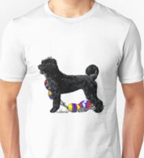 Portuguese Water Dog Standing with Float Line Unisex T-Shirt