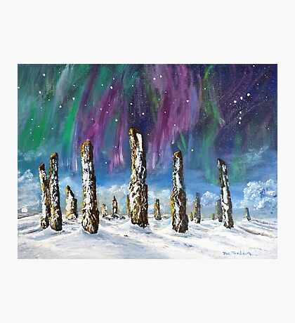 Winter solstice at Callanish Stones Photographic Print