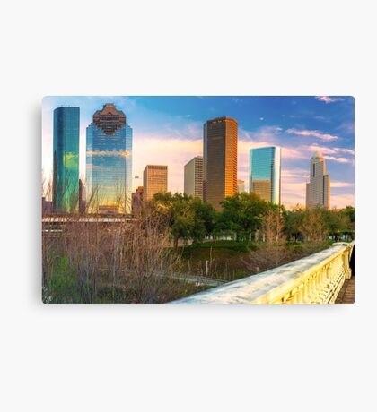 Downtown Houston Texas City Skyline Canvas Print
