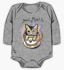 Bright kitten in a cup One Piece - Long Sleeve