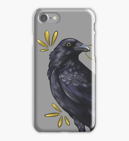 Crow with golden eye iPhone Case/Skin