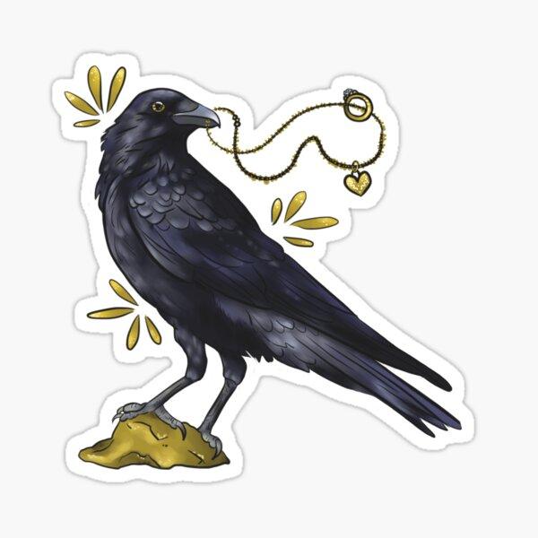 Crow with golden eye Sticker