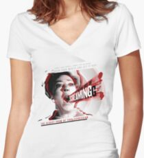 The Art Of Screaming Women's Fitted V-Neck T-Shirt