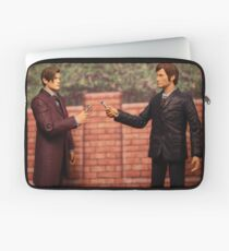 The Eleventh Doctor Meets The Tenth Doctor Laptop Sleeve