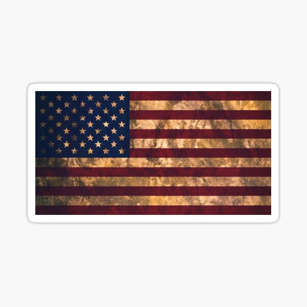 American Pillow Case Paint Splatter USA Flag Stylised 4th of July US Stripes