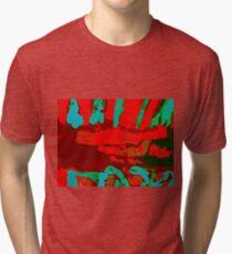63. Red Crocadile Tri-blend T-Shirt