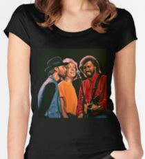 The Bee Gees Painting Women's Fitted Scoop T-Shirt