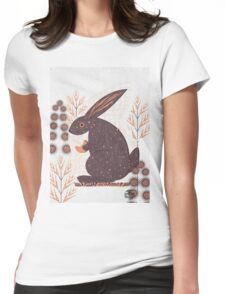 moon rabbit Womens Fitted T-Shirt