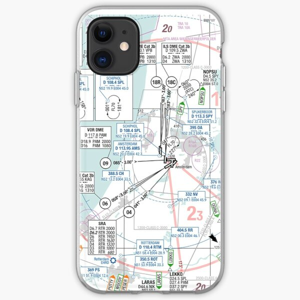 Airspace overview Amsterdam iPhone Soft Case
