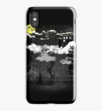 There is a doctor between clouds iPhone Case