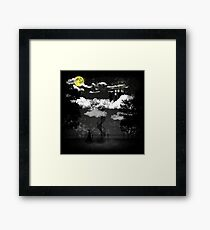 There is a doctor between clouds Framed Print