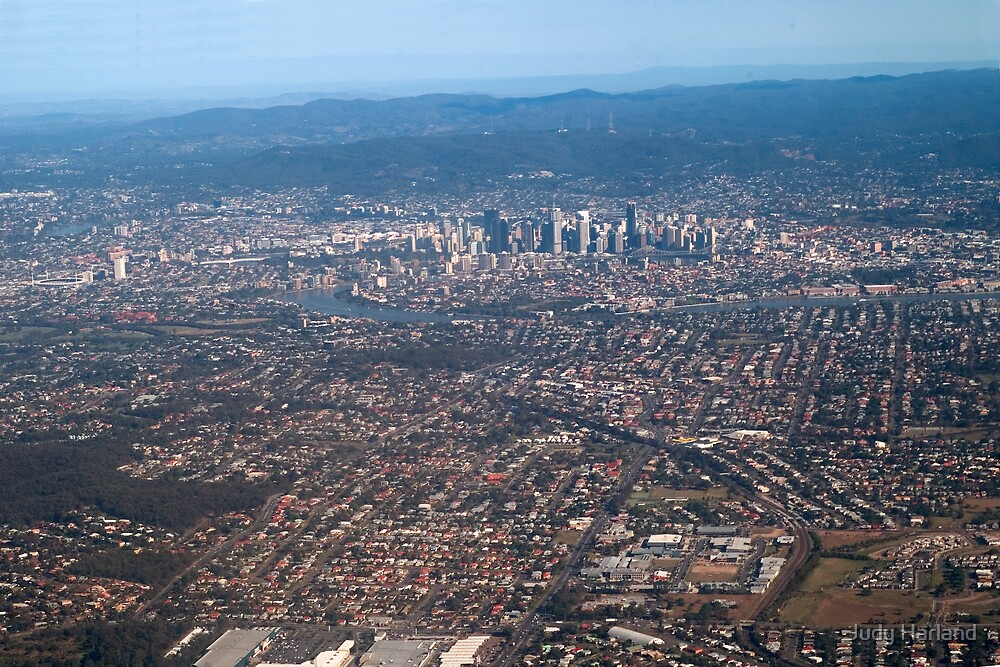 Aerial View of Brisbane by Judy Harland