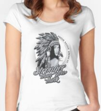 Native American - Stronger than you think Women's Fitted Scoop T-Shirt