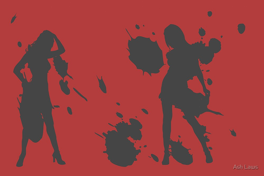 Splattered ladies by Ash Laws