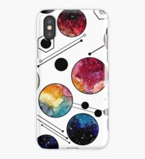 Watercolor Colorful Galaxy in Circles iPhone Case