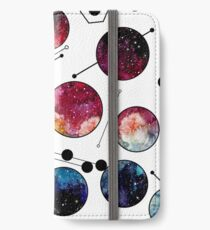 Watercolor Colorful Galaxy in Circles iPhone Wallet/Case/Skin
