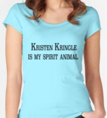 Kristen Kringle is my Spirit Animal Women's Fitted Scoop T-Shirt