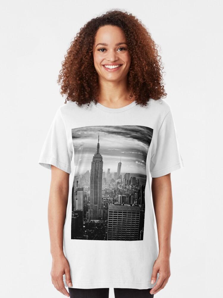 Alternate view of New York City Skyline Slim Fit T-Shirt