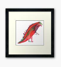 Red Dinosaur Framed Print