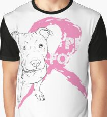 Dog Pitbull Breast Cancer - Pits for Tits T-shirts Graphic T-Shirt