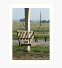 Front porch swing Art Print