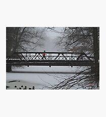 Wintry walk Photographic Print