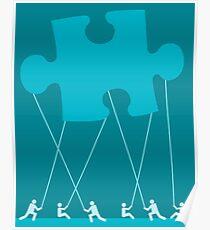 team puzzle Poster