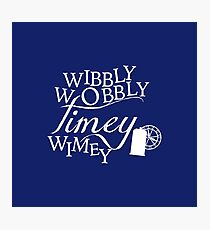 Wibbly Wobbly Timey Wimey - Version Blue Photographic Print