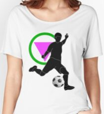 Striker with Pink Pride Triangle  Women's Relaxed Fit T-Shirt
