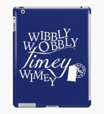 Wibbly Wobbly Timey Wimey - Version Blue iPad Case/Skin