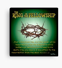 The Ring of the Fellowship Canvas Print
