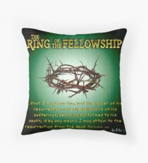 The Ring of the Fellowship Throw Pillow
