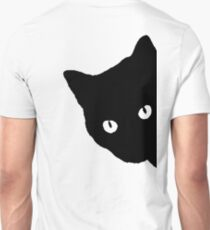 CAT, Peek a boo, Silhouette, Kitten, Pet, Cat, Feline, Puss, Pussy Unisex T-Shirt