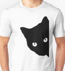 CAT, Peek a boo, Silhouette, Kitten, Pet, Cat, Feline, Puss, Pussy Unisex T-Shirt