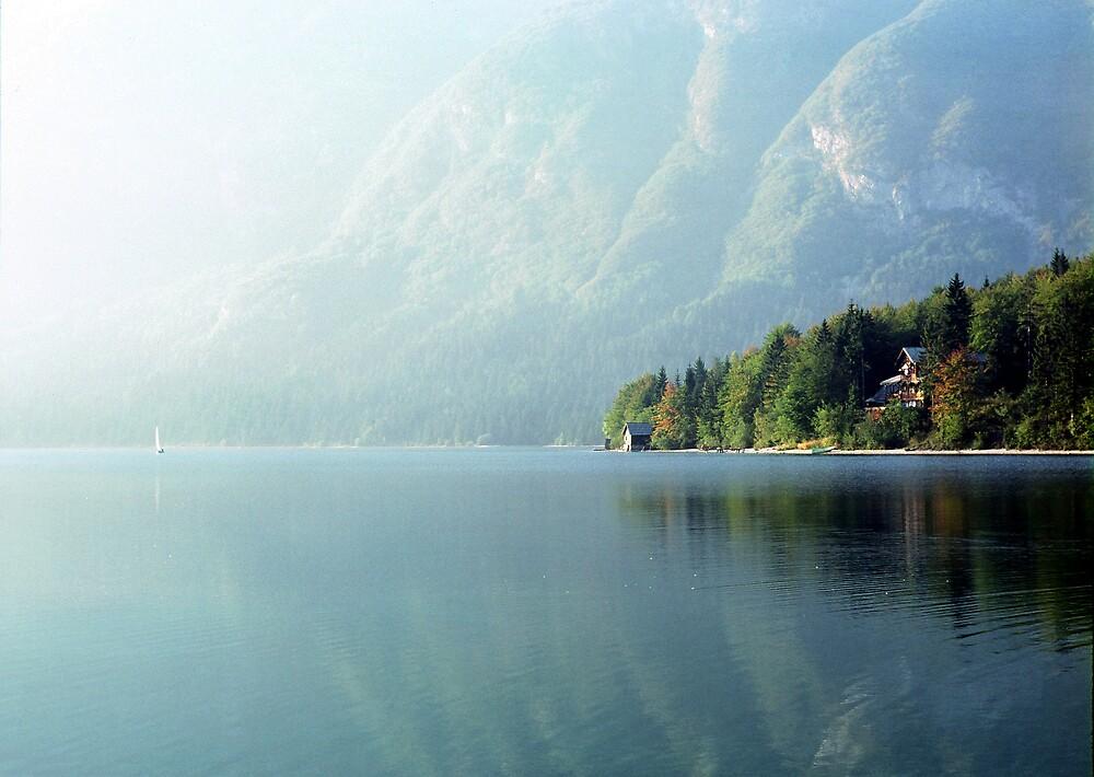 Into the haze, Bohinj by Stephen Jackson