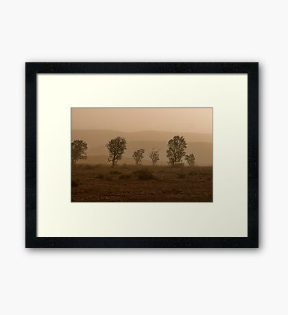 Shades of Dust Framed Print