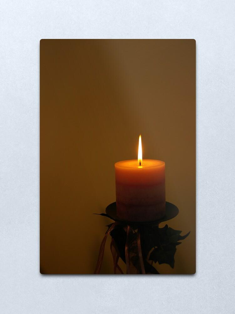 Alternate view of The corner candle  Metal Print