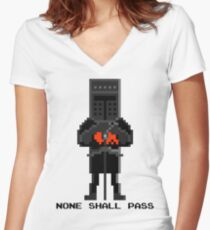 Black Knight - Monty Python and the Holy Pixel Women's Fitted V-Neck T-Shirt