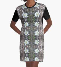Edelweiss - Flower Graphic T-Shirt Dress