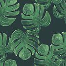 Tropische Blätter. Dschungel Blätter Muster von Viktoriia